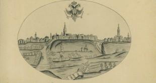 Križevci 1755. godine. Izvor: Gradski muzej Kiževci