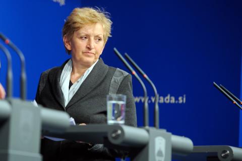 Slovenska ministrica Majcen