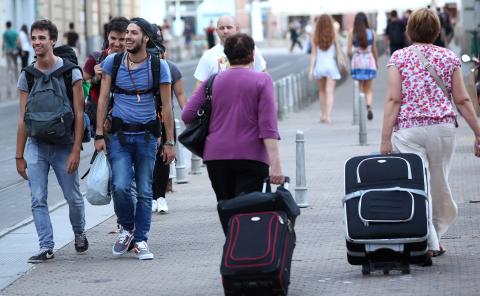 Turisti u Zagrebu