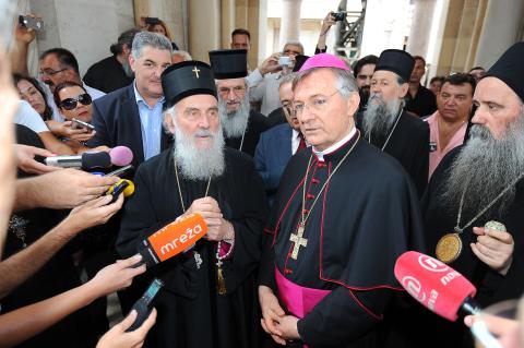 Nadbiskup Barišić i patrijarh Irinej