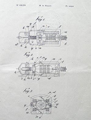 Originalno patentno pismo s nacrtom