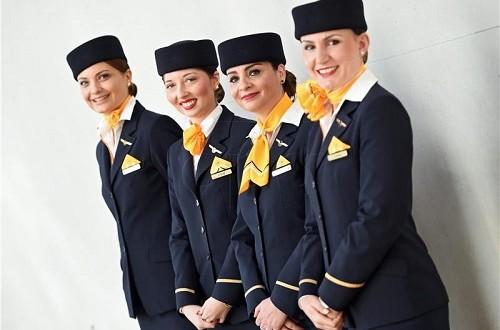 Lufthansa stjuardese