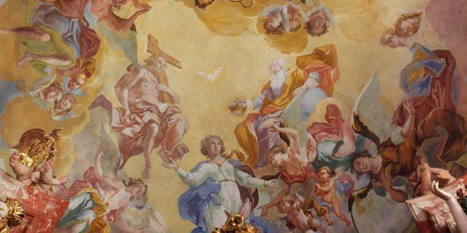 Na slici je jedan od najljepših prikaza Krunjenja Bogorodice u Hrvatskoj, u crkvi Marije Snježne u Belcu, Ivan Krstitelj Ranger, polovica 18. stoljeća. // Foto: Zdenko Balog