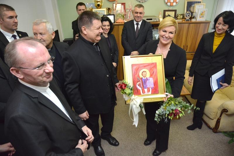 Bjelovar: Predsjednica Kolinda Grabar-Kitarović sastala se s mons. Vjekoslavom Huzjakom