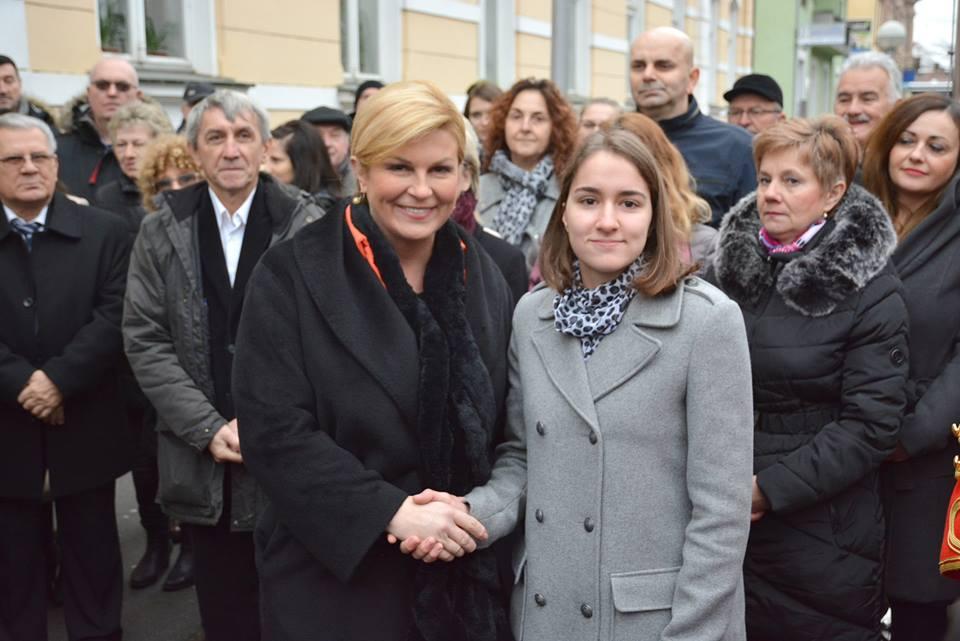 FOTO/VIDEO Koprivnica: Predsjednica Kolinda Grabar Kitarović otvorila je svoj ured u Koprivničko-križevačkoj županiji