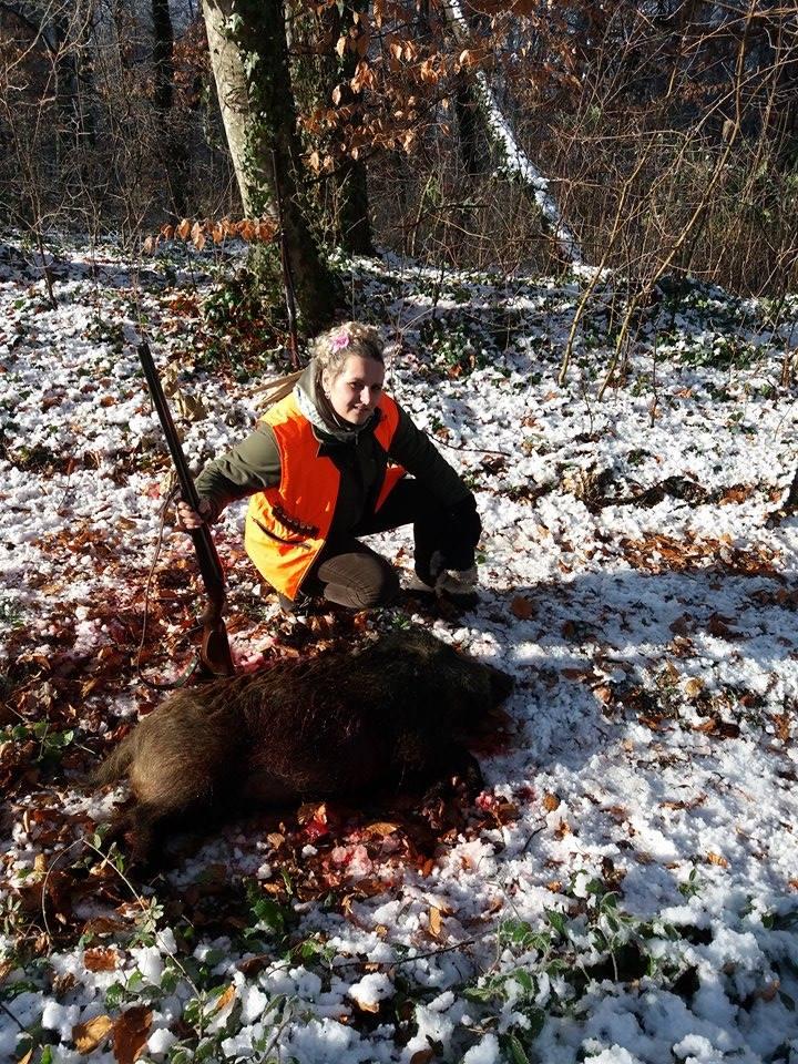 Vlatka Hudak u lovu