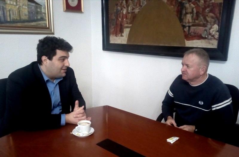 KRIŽEVCI: Gradonačelnik Mario Rajn održao prijem za trenera Dragu Palčića