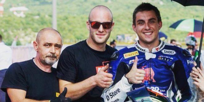 Dražen Babić, Andrej Slavić i Renato Novosel (facebook: arhivska snimka s Grobnika)