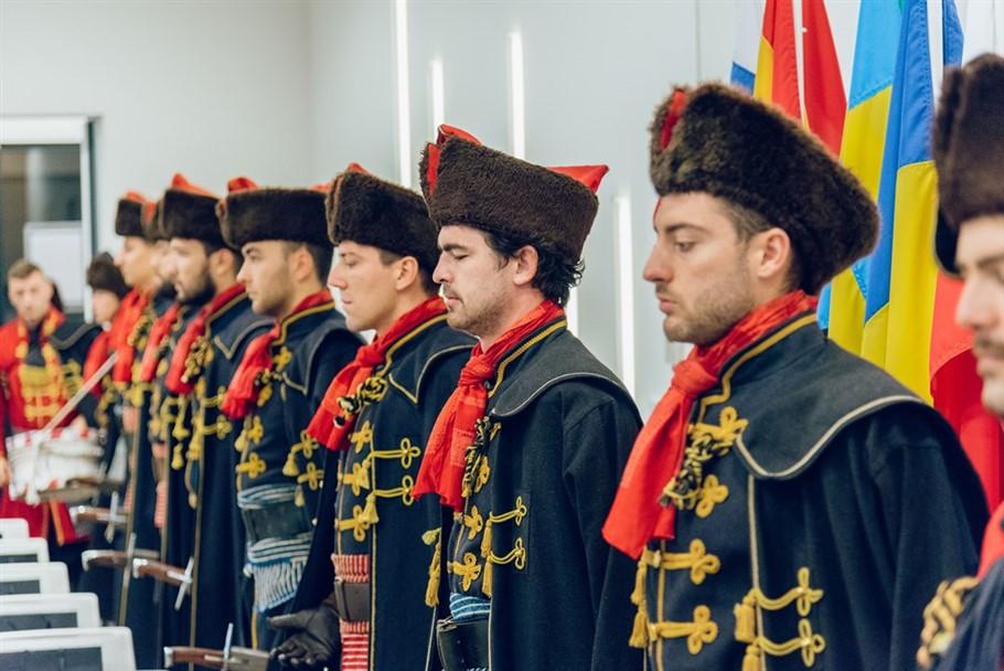 Kravat pukovnija na inauguraciji