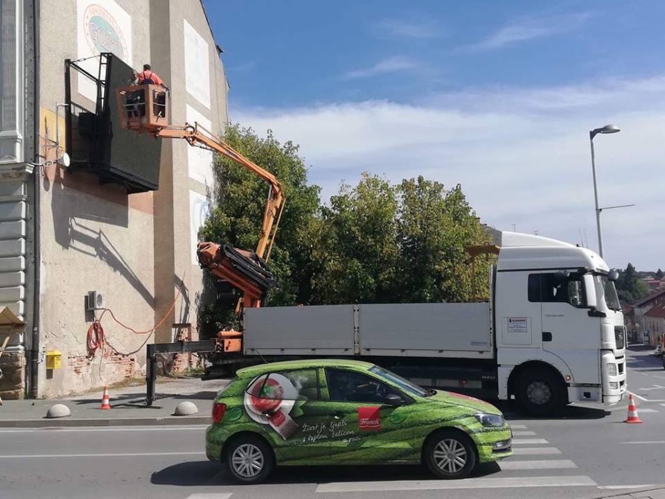 Križevci više nemaju video zid u centru grada