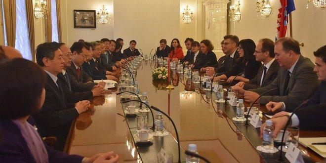 Premijer Plenković sa potpredsjednicom Državnoga vijeća NR Kine: Treba nam snažnija suradnja na području gospodarstva i trgovinske razmjene