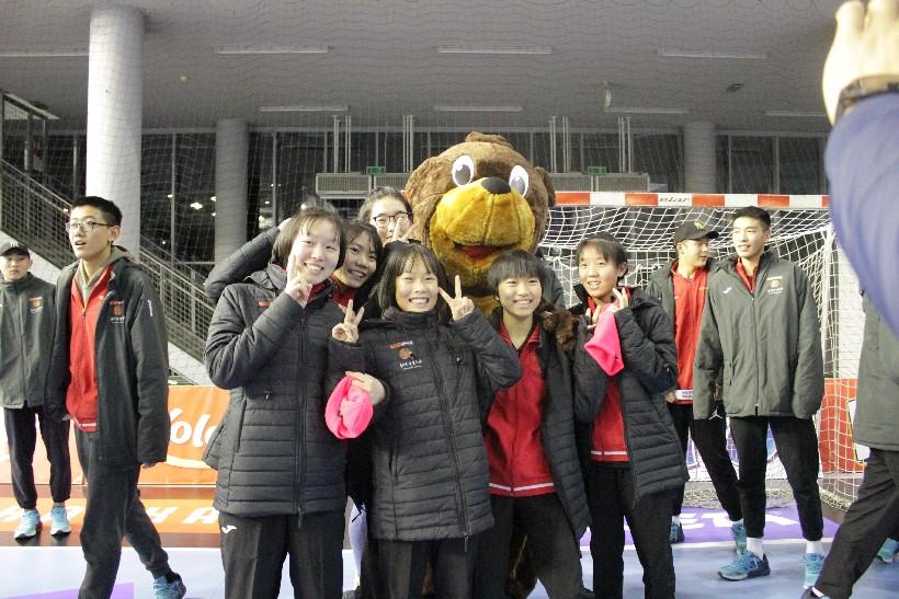 Kineski rukometaši i rukometašice na utakmici Podravka Vegete (1)