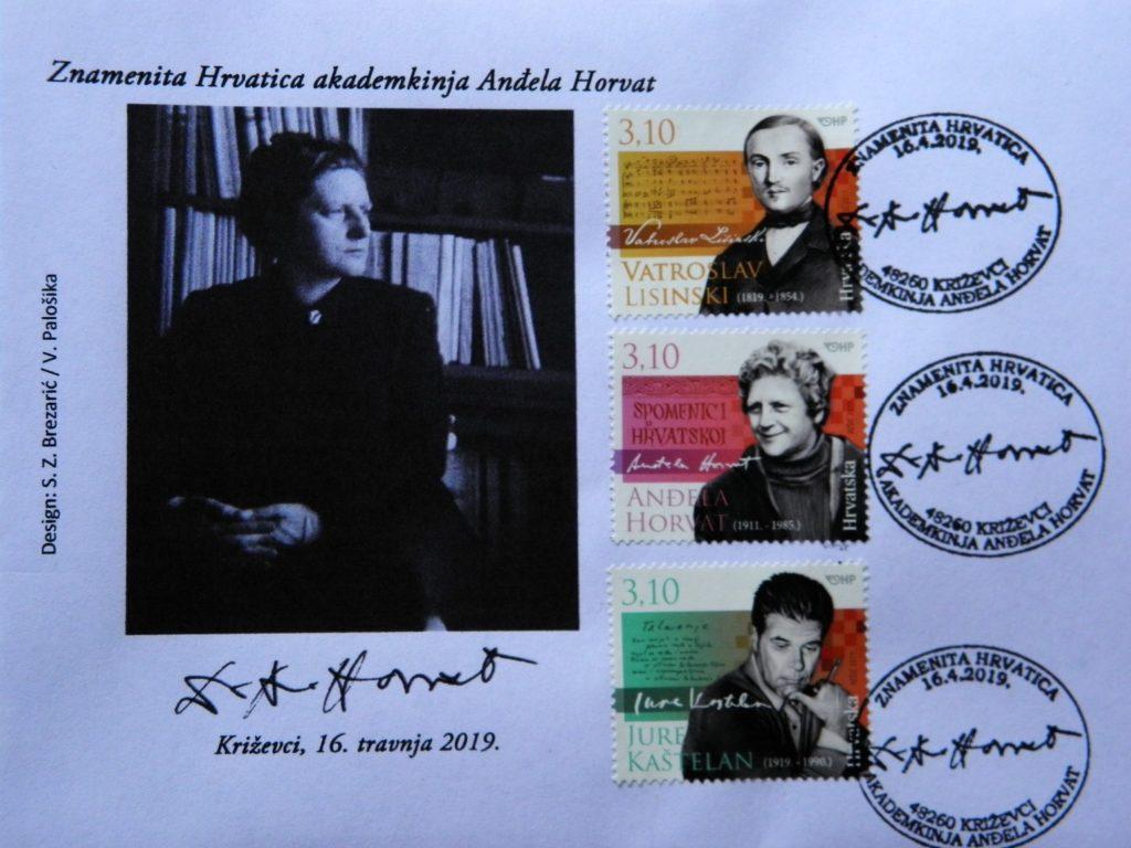 Prigodni poštanski žig u Poštanskom uredu u Križevcima u spomen na akademkinju Anđelu Horvat
