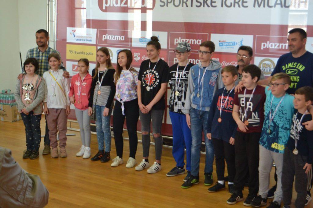 ŠAH – PLAZMA SPORTSKE IGRE MLADIH Završnica za Koprivničko-križevačku županiju u Križevcima: Najbolji izborili Split!