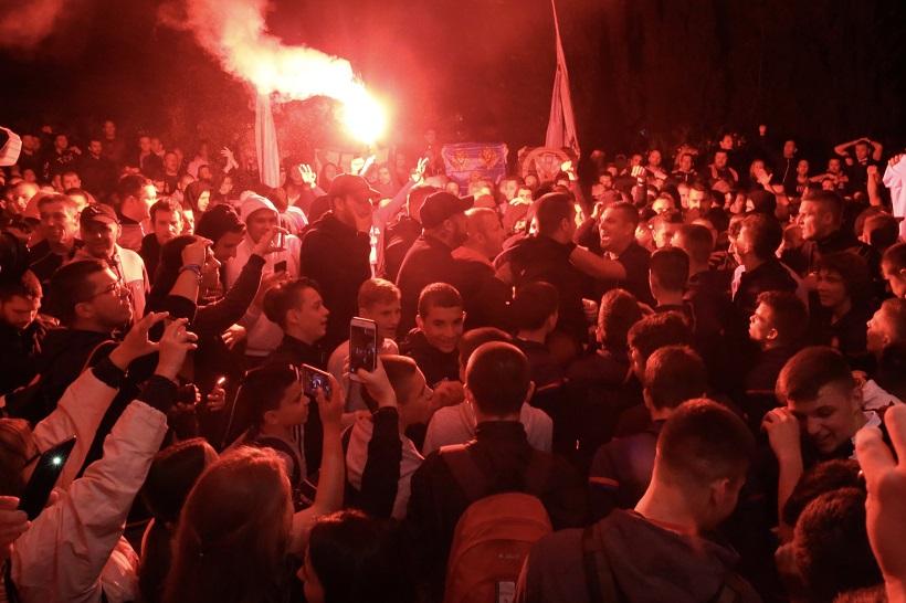 Split: Torcida spektakularno dočekala pionire Hajduka