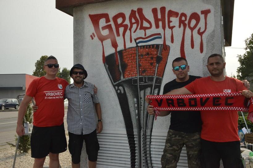 Grad heroj i NK Vrbovec – Vrbovec ima nove grafite!