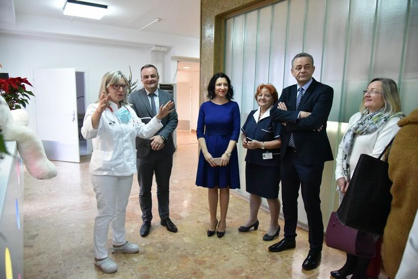 [FOTO] Župan Koren obišao novi, dvostruko veći odjel pedijatrije u OB dr. Tomislav Bardek Koprivnica