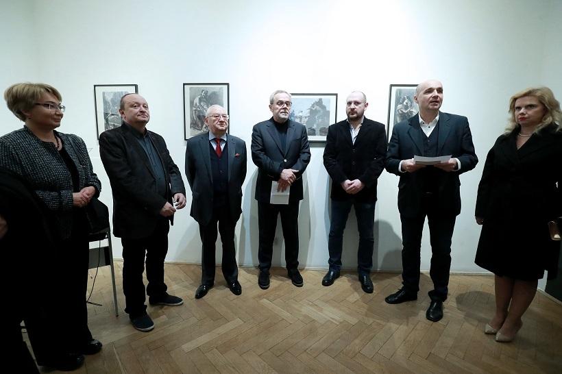 """Otvorena izložba """"Nacistička okupacija u grafičkim radovima Meera Akselroda"""""""
