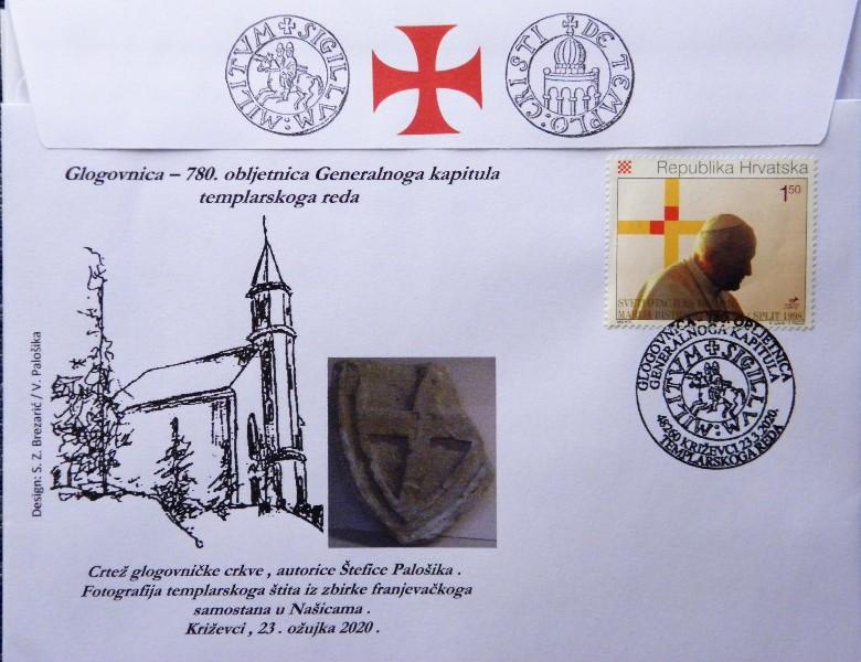 Prigodni poštanski žig : 780. obljetnica Generalnoga kapitula templarskoga reda