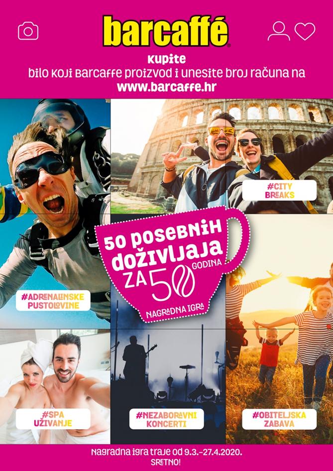 NAGRADNA IGRA 50 posebnih doživljaja za 50 godina Barcaffea