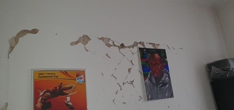 Potres jako oštetio prostorije Hrvatskog atletskog saveza
