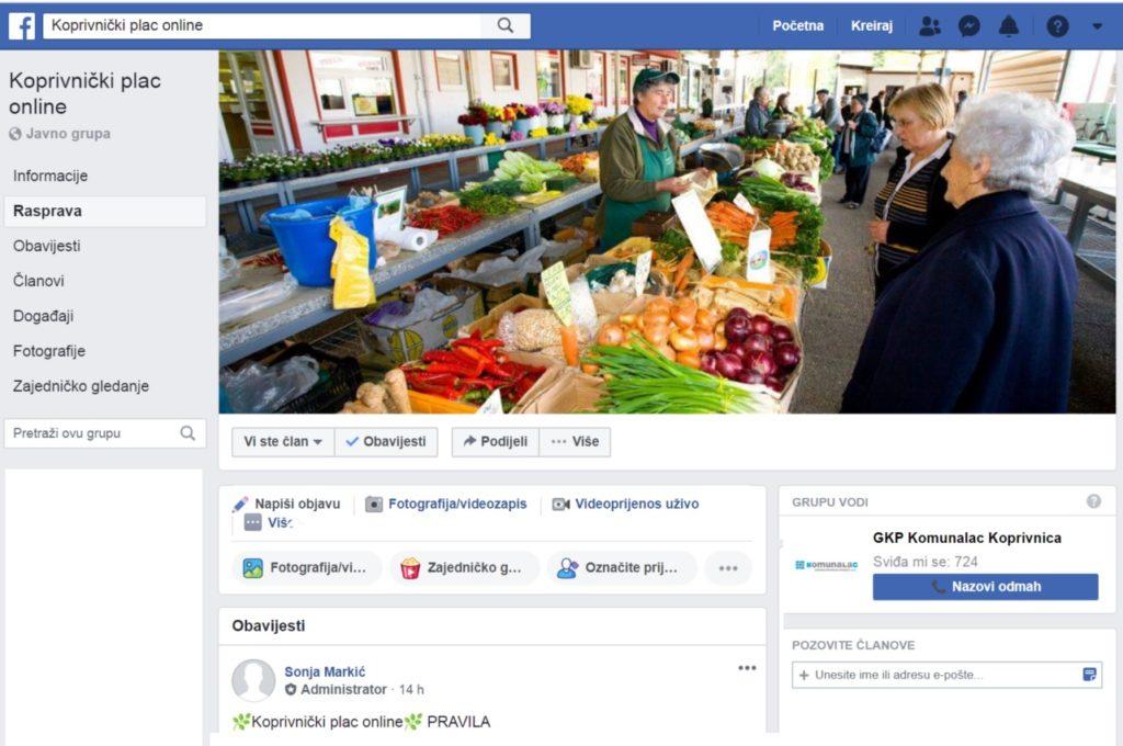 Koprivnički Komunalac pokrenuo 'Koprivnički plac online'; virtualnu tržnicu