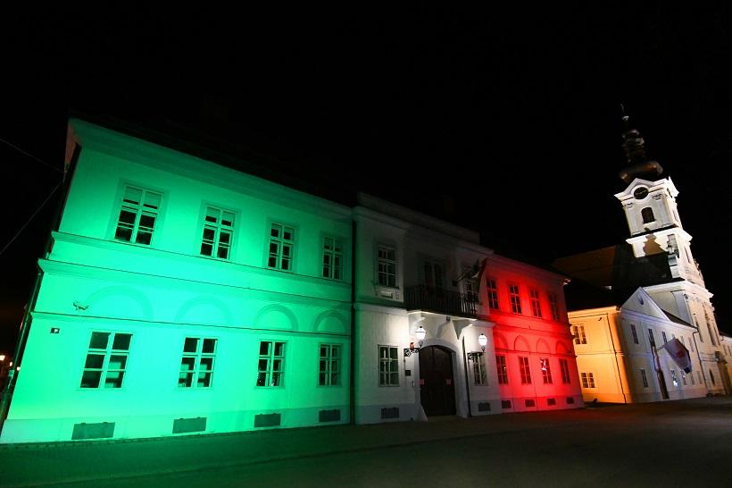 Bjelovar: Gradski muzej zasvijetlio u bojama talijanske zastave
