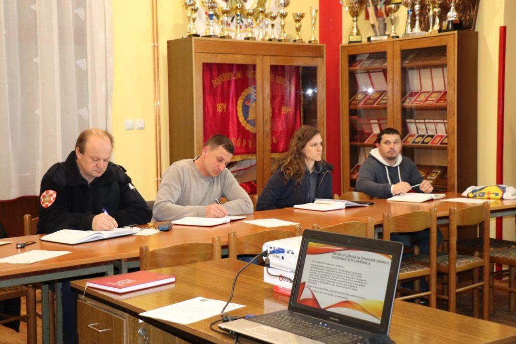 Održan sastanak zapovjedništva Vatrogasne zajednice grada Koprivnice