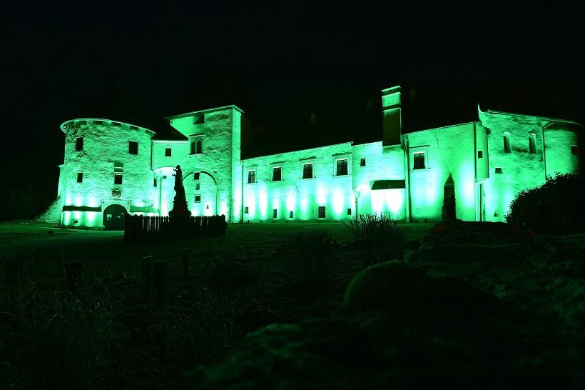 Varaždinski Stari grad u zelenom tonu