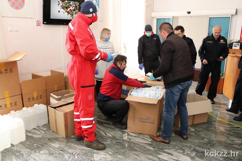 Županijski Stožer koprivničko-križevački osigurao više od 37.000 komada razne medicinske zaštitne opreme