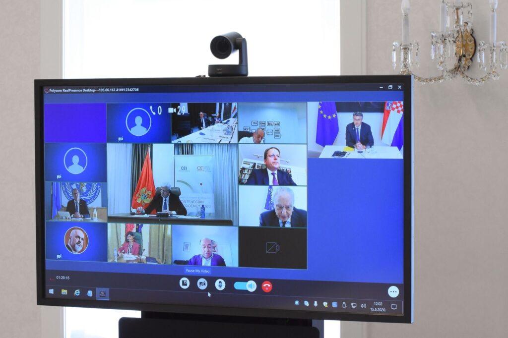 Održan izvanredni video sastanak predsjednika vlada država članica Srednjoeuropske inicijative
