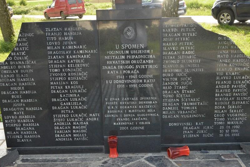 [FOTO/VIDEO] KOD KRIŽEVACA Razbijena spomen-ploča podignuta poginulim i nestalim pripadnicima HOS-a u Drugom svjetskom ratu i braniteljima i civilima koji su život izgubili u Domovinskom ratu