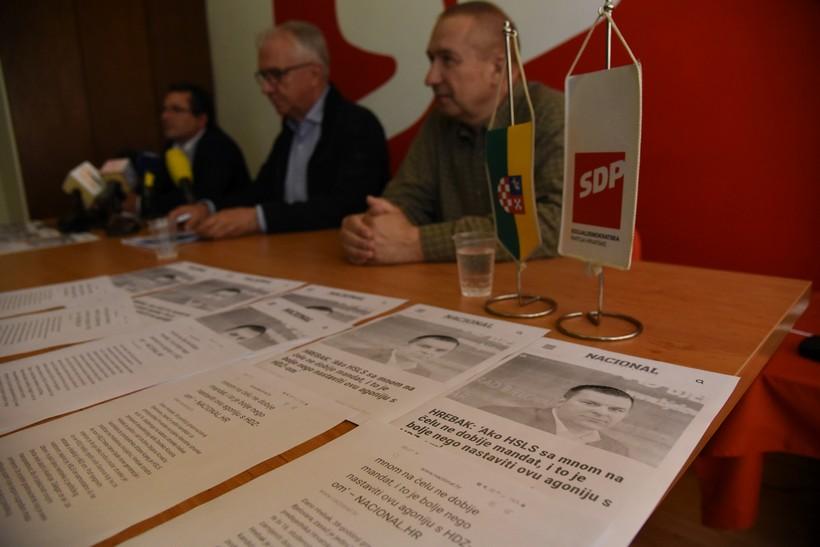 'Agonija Darija Hrebaka'; konferencija SDP-a u Bjelovaru: 'Jedna od agonija vezana je uz transparentnost. Riječ je o poslovima koji su naplaćeni, a pitanje je jesu li napravljeni'