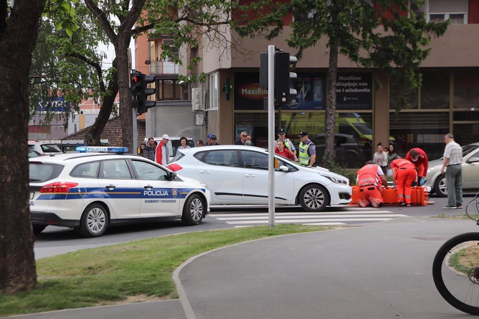 TEŠKA PROMETNA U KRIŽEVCIMA Ozlijeđena jedna osoba, Hitna i policija su na terenu