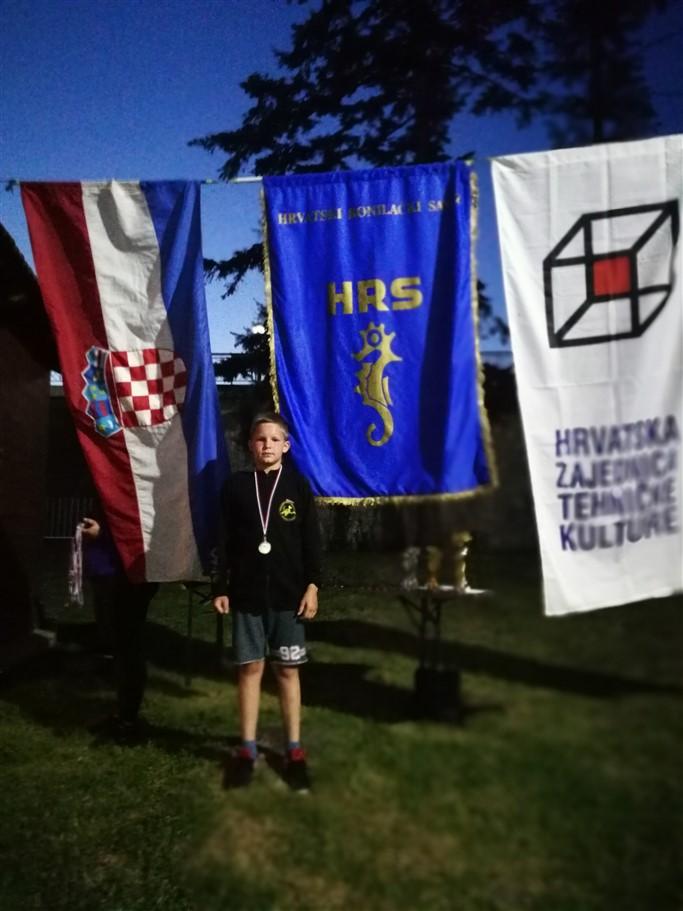 Tin Treščec drugi na otvorenom Državnom pojedinačnom i klupskom prvenstvu Hrvatske u podvodnoj orijentaciji sa dihalicom