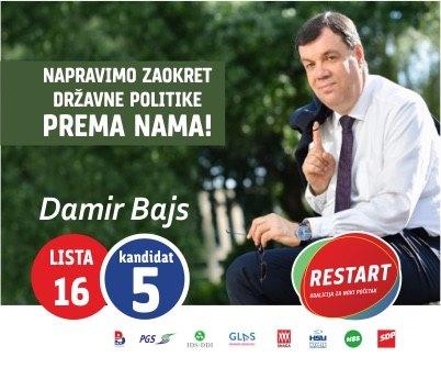 Lista 16 – kandidat 5 – Damir Bajs
