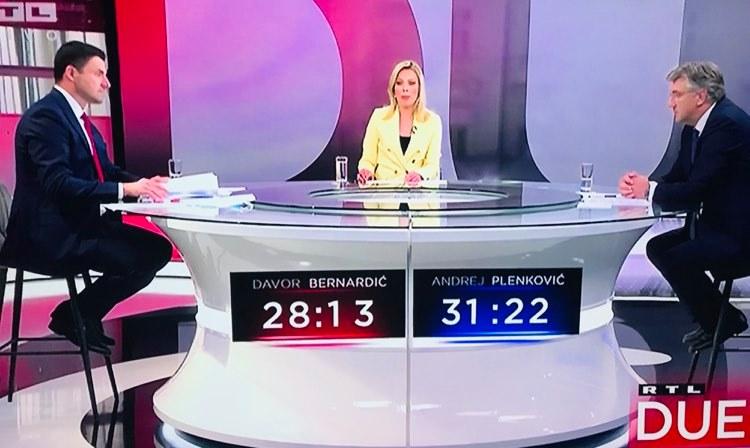 Plenković i Bernardić prvi puta na TV sučeljavanju