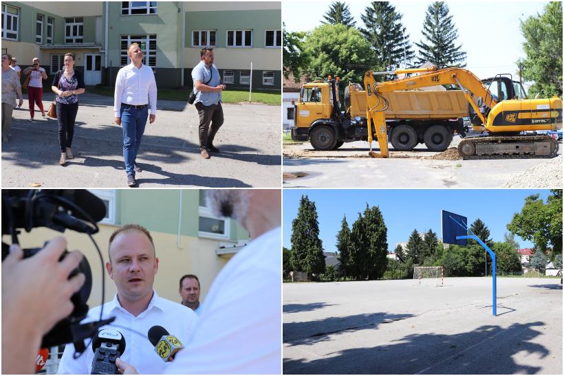 """Počela izgradnja nove sportske dvorane kod OŠ """"Đuro Ester"""" u Koprivnici; gradonačelnik Jakši:""""Ovom izgradnjom dižemo kvalitetu obrazovanja naših osnovnoškolaca"""""""