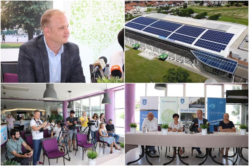 """Predstavljena solarna elektrana na Gradskim bazenima Cerine; gradonačelnik Jakšić: """"Projekt solarne elektrane pokazuje da smo spremni raditi inovativne i nove stvari na održiv način"""""""