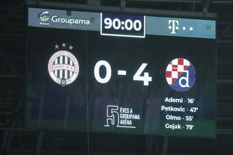 Dinamo peti put protiv Ferencvarosa, nikada nije izgubio