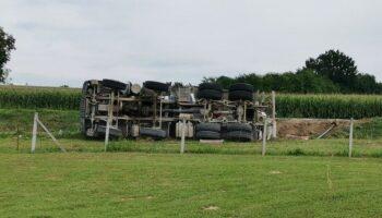 Policija utvrdila zašto je došlo do prevrtanja kamiona kod Križevaca