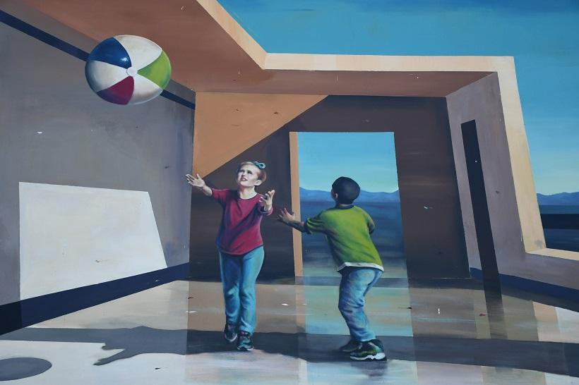 Veliki Grđevac: Mural  Igora Taritaša na Osnovnoj školi Mato Lovrak