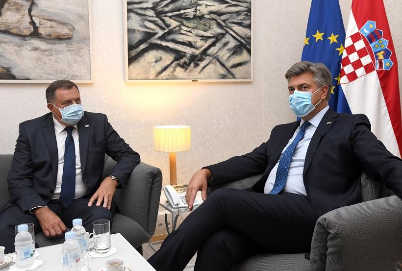 Milanović i Plenković odvojeno u Zagrebu razgovarali s Dodikom