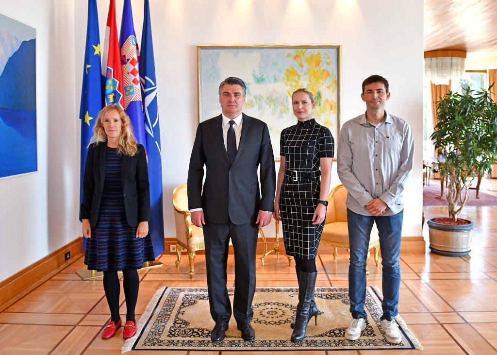 Predsjednik Milanović primio predstavnike Hrvatske udruge za umjetnu inteligenciju