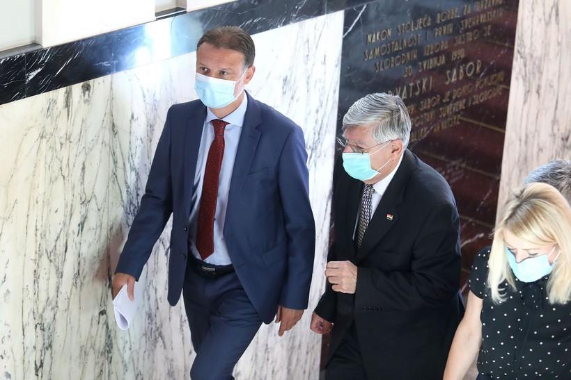 Vraćaju se Jandroković i Reiner; predsjednik Sabora ozdravio, potpredsjednik bez simptoma i negativan