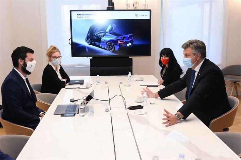 Sastali se Plenković i Rimac na temu ulaganja u razvoj industrije električnih automobila