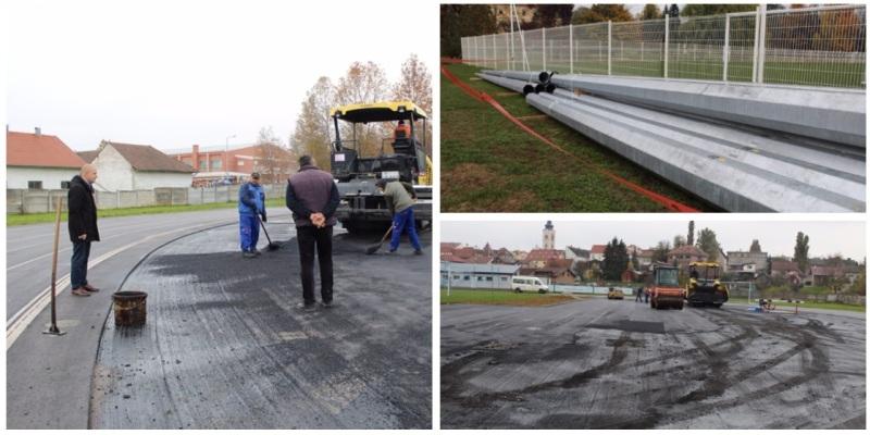 U tijeku su radovi na uređenju atletske staze i pomoćnog igrališta u Križevcima