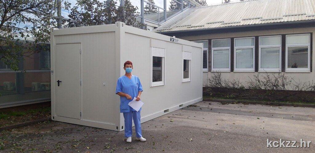 U Koprivnici, Križevcima i Đurđevcu postavljeni kontejneri za trijažu pacijenata