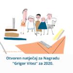 Otvoren natječaj za književnu nagradu Grigor Vitez