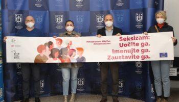 """Zamjenici gradonačelnika Martinčević i Šaško podržali kampanju projekta """"Zajedno protiv seksizma"""""""